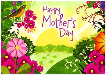 Mother S Day Ecard With Sunshine Flowers And Robin Browse Ecards