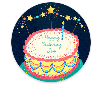 Personalized birthday ecard