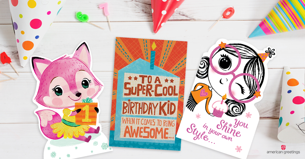 What to write in a kids birthday card american greetings laughing kids celebrating a birthday m4hsunfo