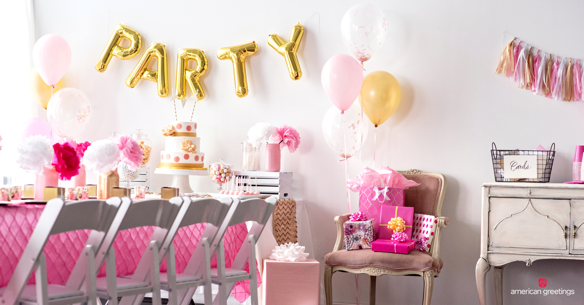 Pink And Gold Birthday Party Ideas Inspiration