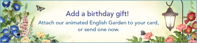 jacquie lawson garden - Send Birthday Card