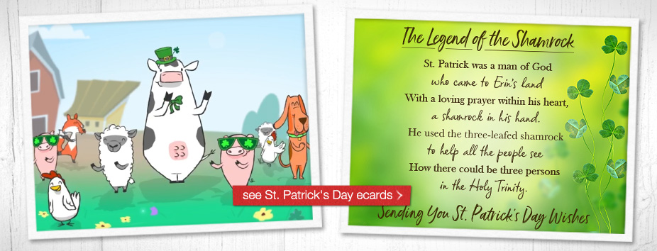 St. Patrick's Day Ecards - Homepage Banner