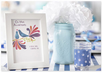 Blue Party Mason Jar Centerpiece