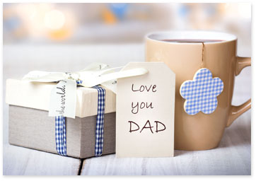 Father's Day Gift and Coffee mug on a table - Get party planning tips