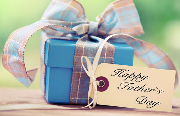 A wrapped gift for Father's Day Gift Guide