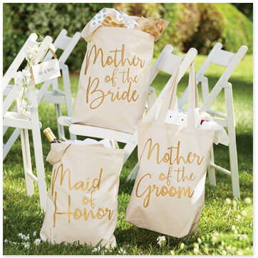 Three Tote Wedding Day Bags