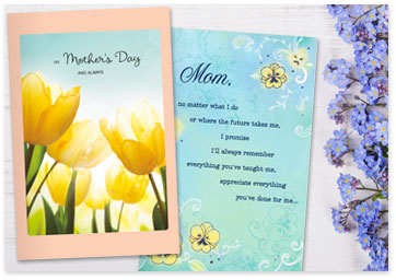 2 printable Mother's Day cards with forget me not flowers  - Browse printables