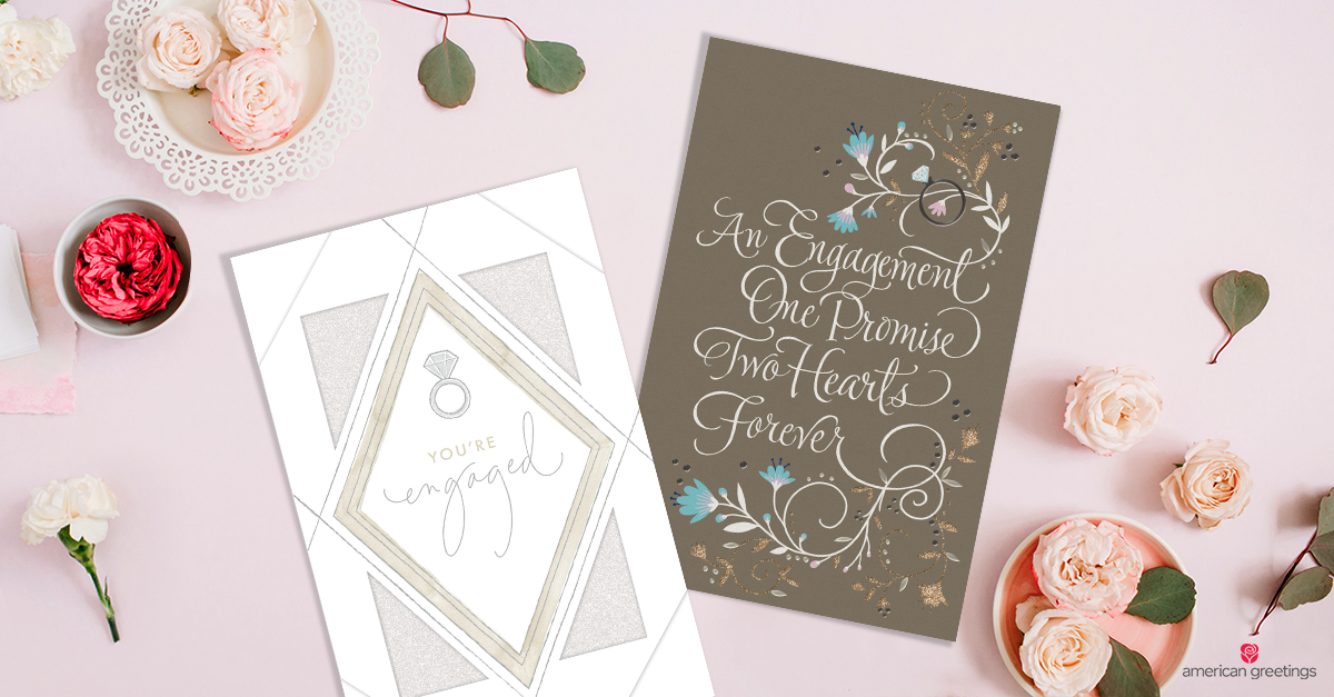 Engagement congratulations messages american greetings congrats cards and pink roses m4hsunfo