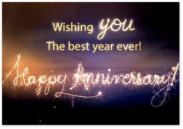 Image representing anniversary ecards - Wishing you the best year ever. Happy Anniversary - Browse anniversary ecards