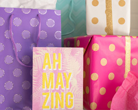 Gift bags and tissue wrapping paper