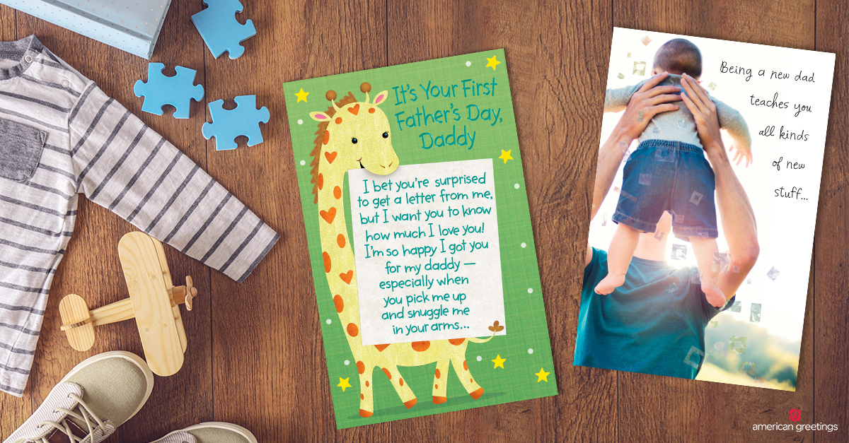 First fathers day messages american greetings plane and puzzles and being a new dad cards m4hsunfo