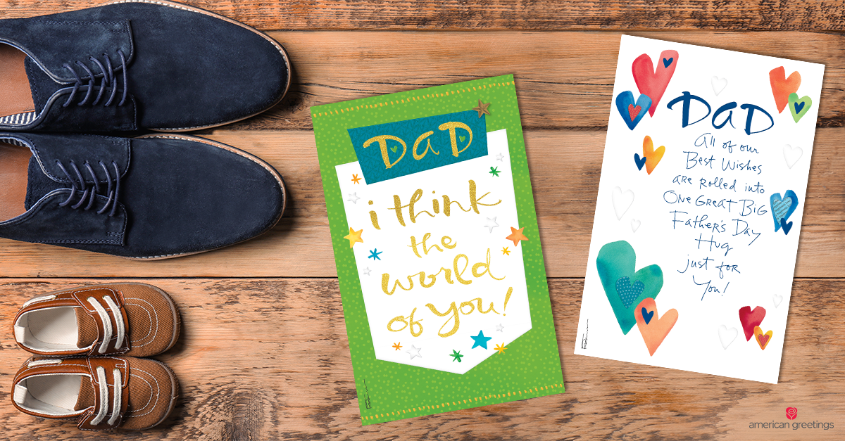 father's day cards and father and son shoes