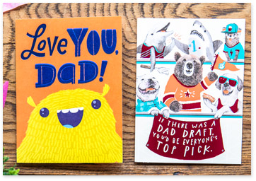 Variety of Father's Day paper greeting cards - Shop Father's Day cards