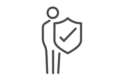 Person with a shield icon