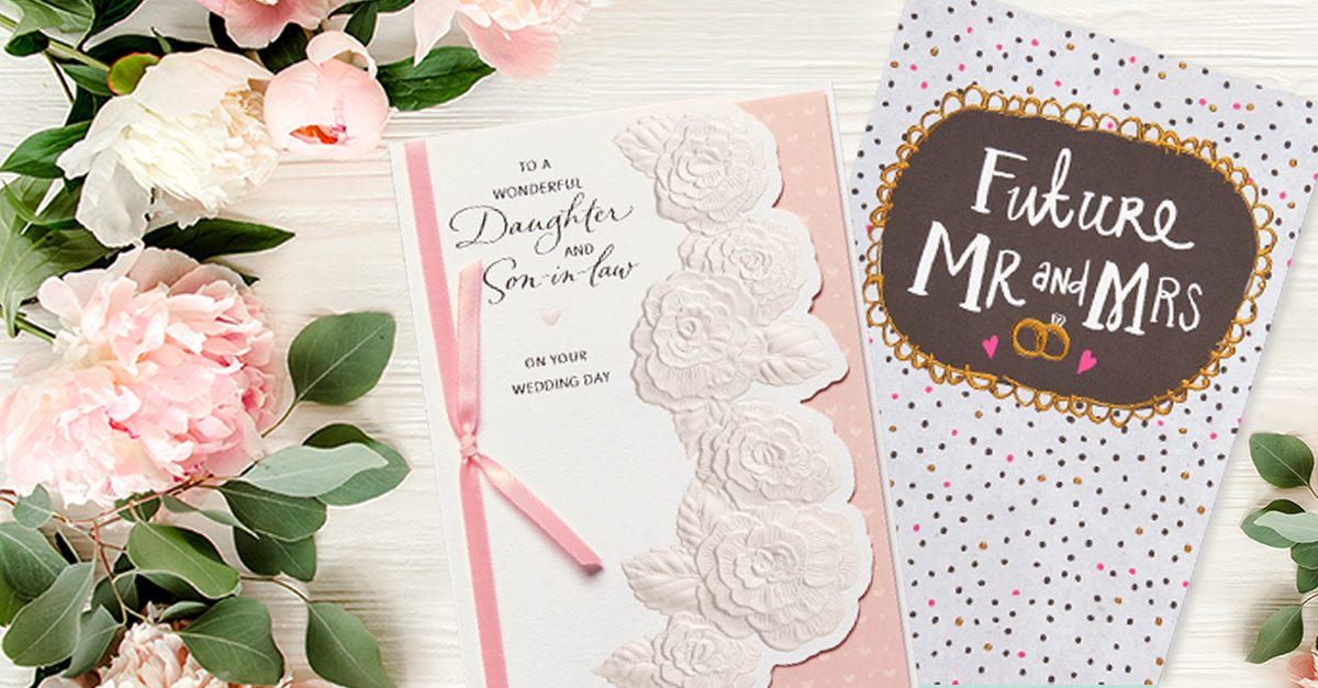 For Lovely Daughter /& New Son-in-Law Wedding Day Card