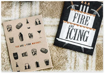 Fire & Icing and Whiskey Birthday Cards - Shop Birthday Cards For Him