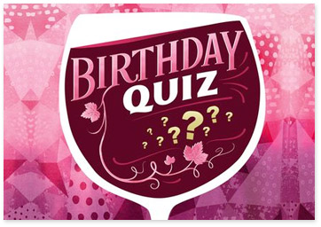 Birthday Wine Quiz Ecard - Brownse Birthday Ecards for Her