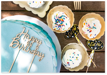 Birthday Wooden Tableware Decor - Shop Birthday Party Supplies