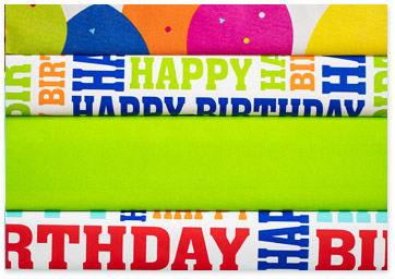 Birthday Gift Wrapping Paper Rainbow Bundle - Shop Birthday Gift Wrap & Bags