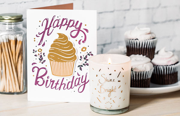 Happy Birthday Katie Loxton Candle and Birthday Card - Shop Birthday Gift Ideas