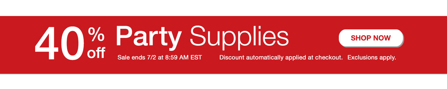 Shop 40% Off Party Supplies
