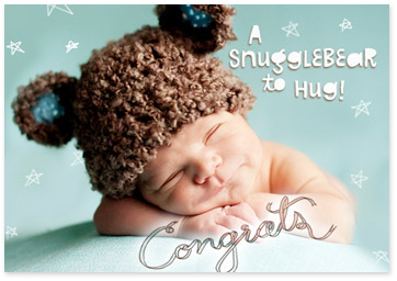 Image showcasing baby product - Congrats Snugglebear Ecard - Browse baby ecards
