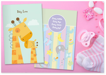 Image showcasing baby Printable cards - Shop baby Printables