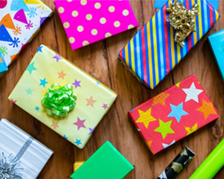 Assortment of Birthday wrapping paper, gift bags and bows - Shop all birthday gift wrap and packaging