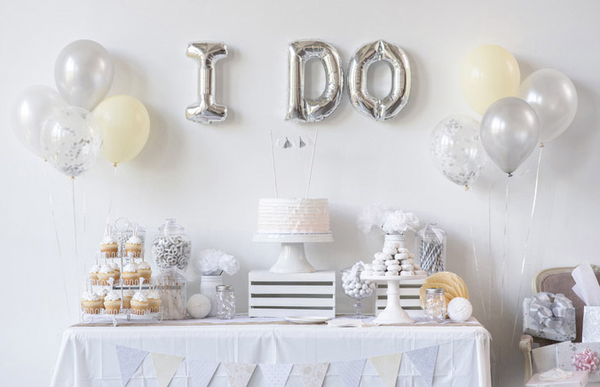 All White I Do Bridal Shower Party - Shop White Party Supplies