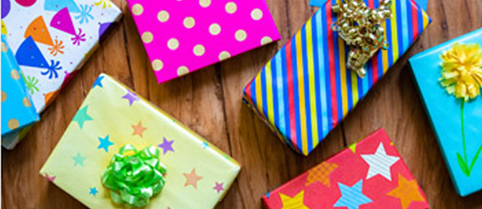 Array of gift wrap ideas