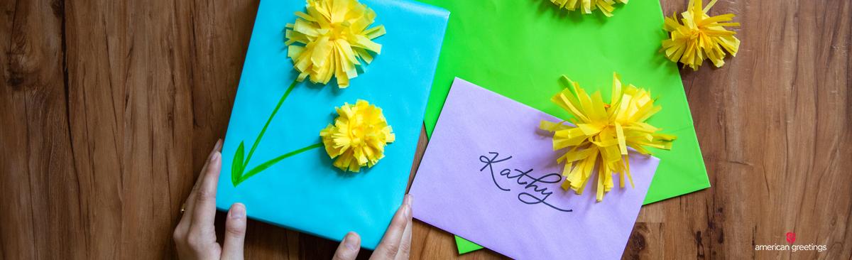 Dandelion tissue paper flowers american greetings diy wrapping paper dandelion tissue paper flowers mightylinksfo