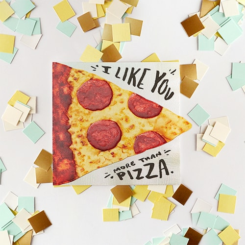 Pizza Greeting Card - Birthday, Thinking Of You, Romantic