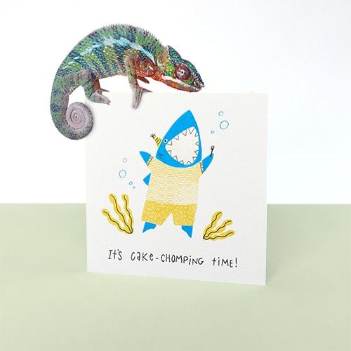 Shark Birthday Greeting Card For Kids
