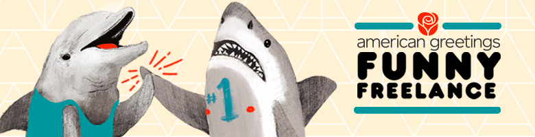 two sharks high fiving - funny freelance