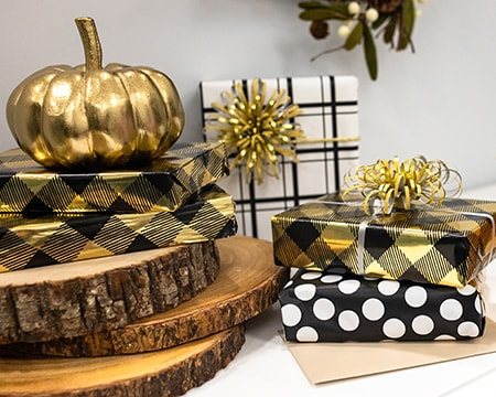 New Black and Gold Wrapping Paper