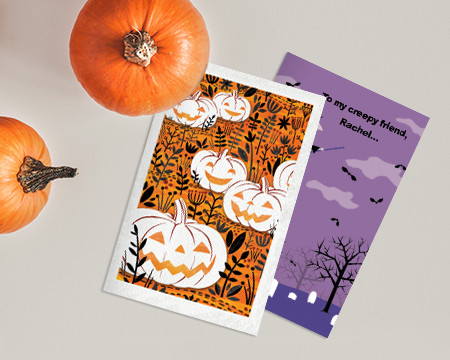 Two Halloween Printables and Pumpkins