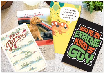 various happy birthday cards with dogs covers