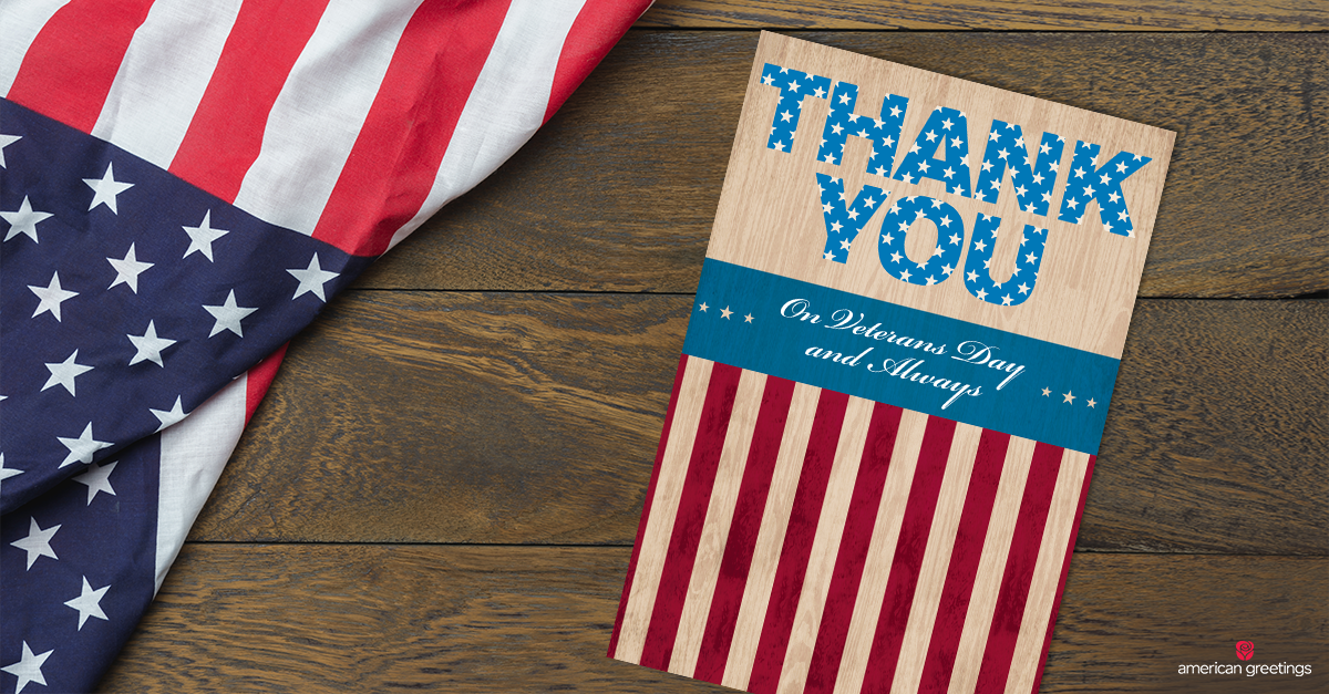 image regarding Military Thank You Cards Free Printable named Veterans Working day Messages - What in the direction of Create American Greetings