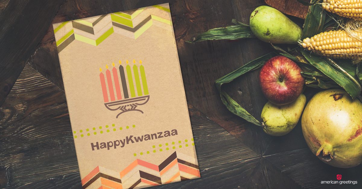 Kwanzaa wishes what to write american greetings happy kwanzaa card next to fruits and vegetables m4hsunfo