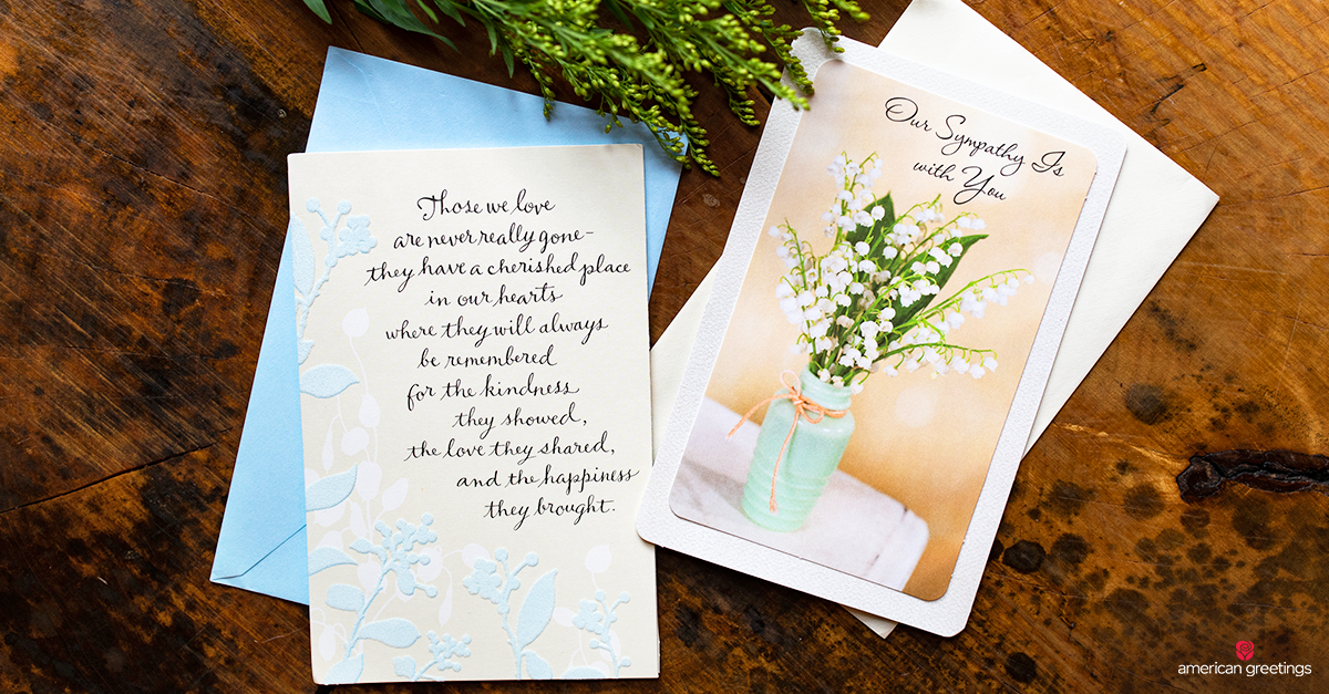 Sympathy Greeting Card On A Wood Table
