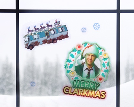 National Lampoon's Christmas Vacation Window Cling Set
