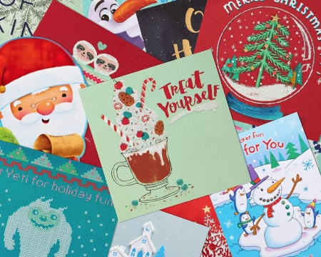 Assortment of Christmas Paper Cards