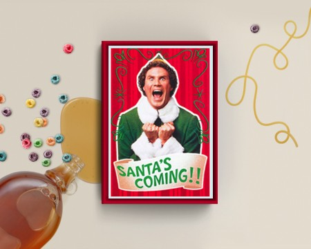 Funny Christmas Elf Boxed Cards