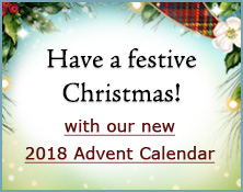 Have a festive Christmas with our new 2018 Advent Calendar