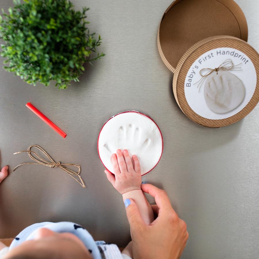 Babys First Christmas Ornament/handprint ornament