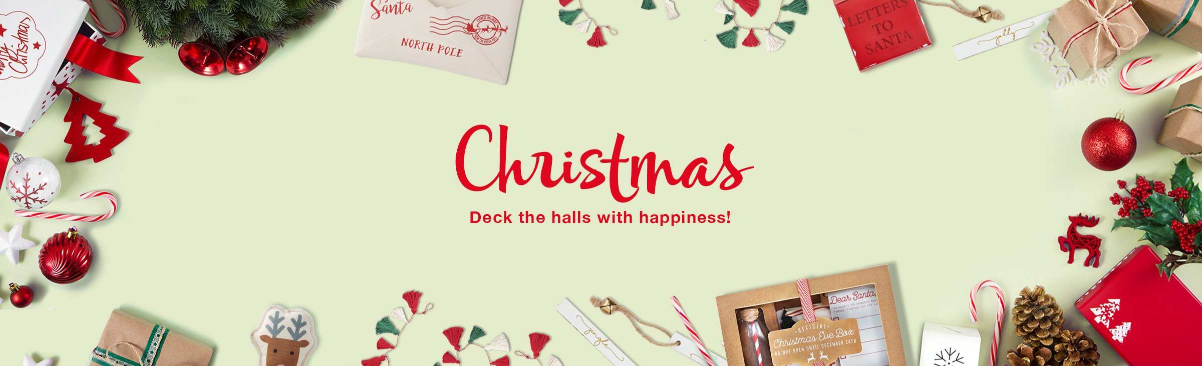 Christmas Deck the halls with happiness! Christmas gifts, cards, and party goods.