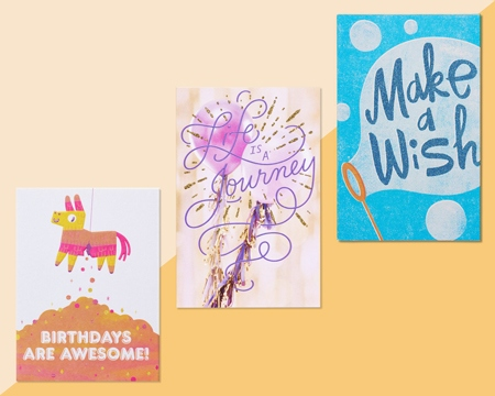 3 Different Birthday Paper Cards