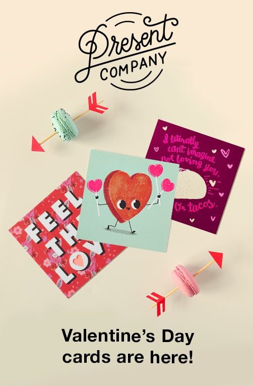 Present Company Valentine's Day Cards