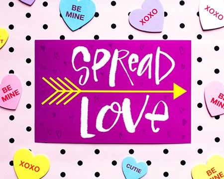 Spread Love Greeting Card