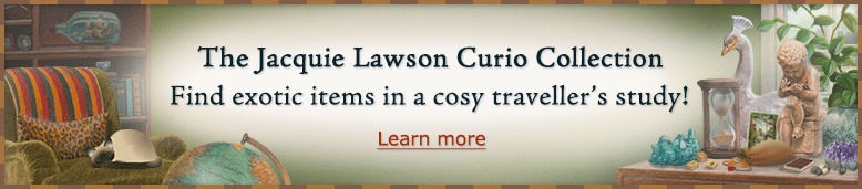 The Jacquie Lawson Curio Collection - Find exotic items in a cosy traveller's study!